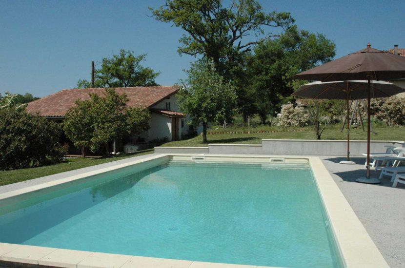 Louer villa avec piscine Heugas Dax cure thermale ou vacances