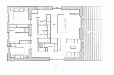 Plan de la maison de vacances à Heugas pour réservation curiste