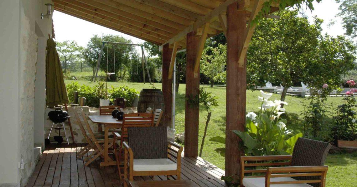 Gite Landes avec terrasse ombragée, Gite Landes avec terrasse, louer maison de vacances avec terrasse, Dax en vacances